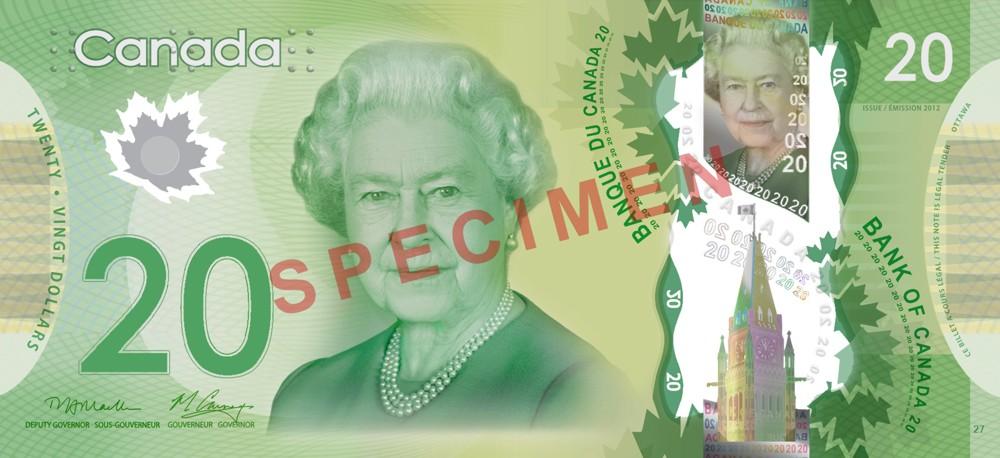 20 Canadische Dollar Vorderseite