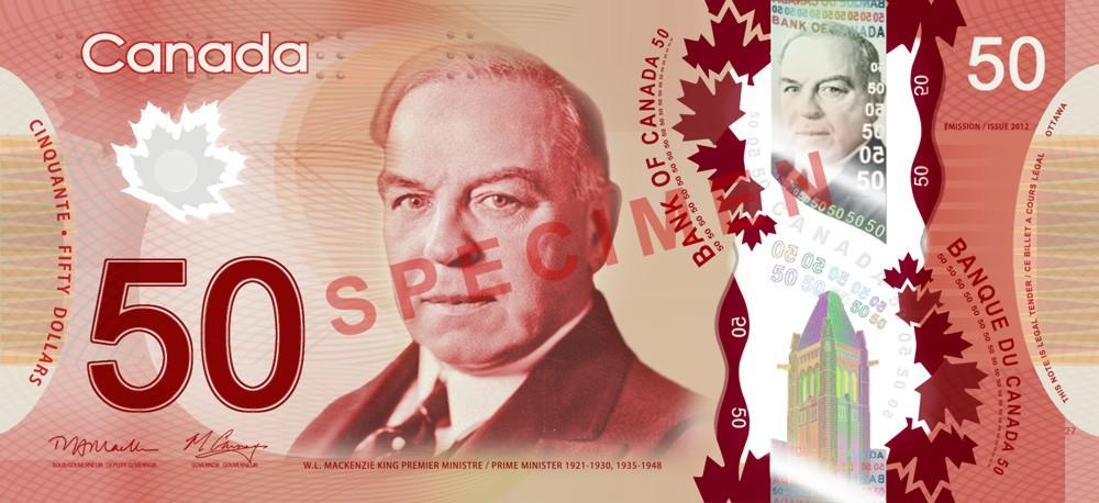 50 Canadische Dollar Voorderseite