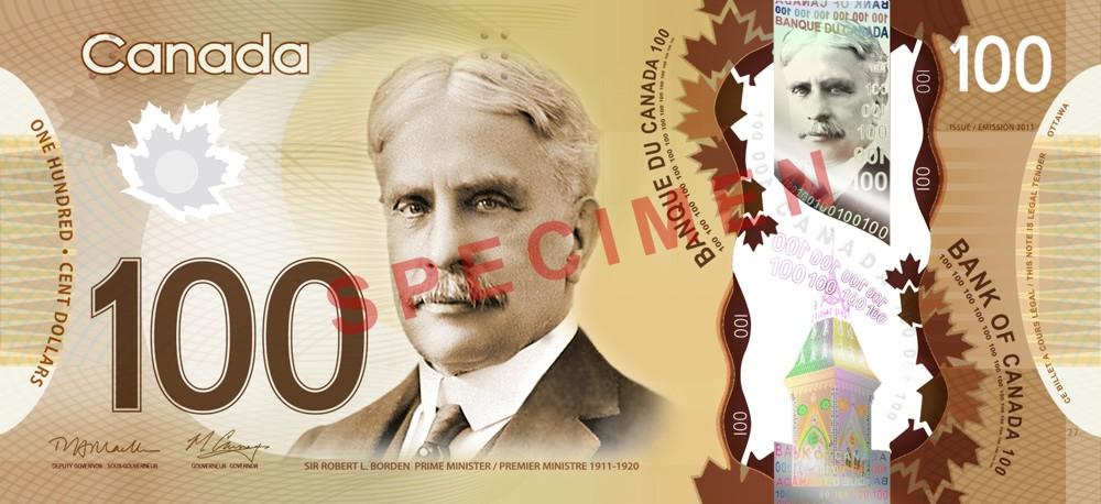 100 Canadische Dollar Vorderseite