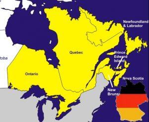 Größenvergleich Deutschland - Ostkanada