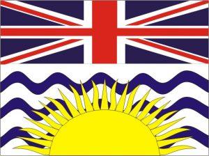 Flagge Provinz British Columbia