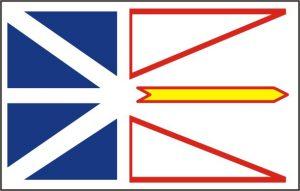 Flagge Provinz Neufundland und Labrador