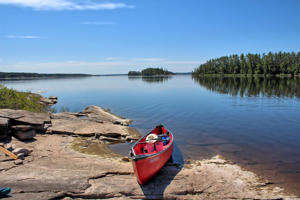 Kanu Wandern in Kanada auf dem Ottawa River