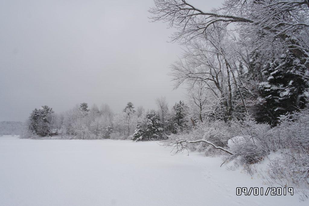 Eis und Schnee auf dem Ottawa River