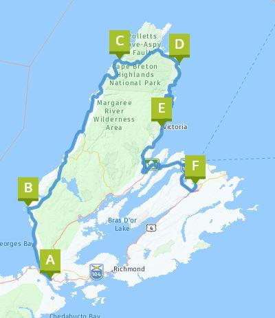 Schleife Cape Breton Kanada
