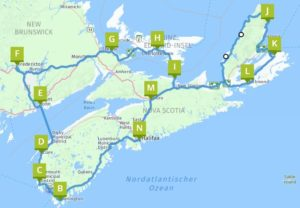 Atlantik Provinzen - Die Maritimes - Nova Scotia-New Brunswick-Newfoundland