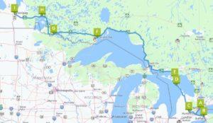 Reise durch den Westen von Ontario