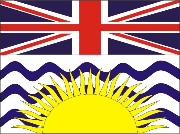 Flag British Columbia - Provinces and territories Canada