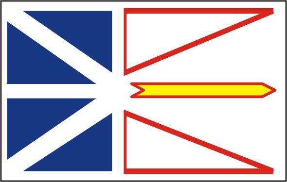Flag Newfoundland - Provinces and territories Canada