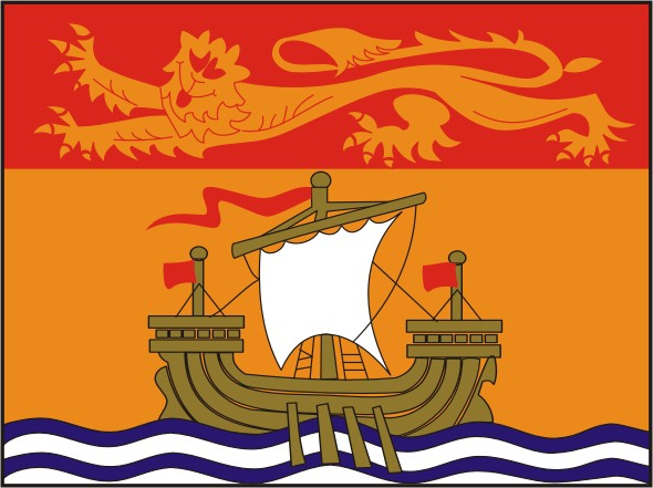 Flag New Brunswick - Provinces and territories Canada