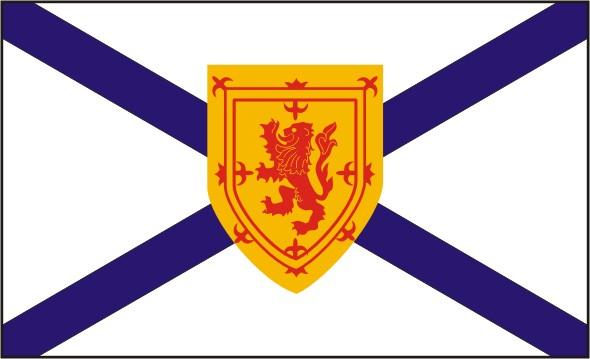 Flag Nova Scotia - Provinces and territories Canada