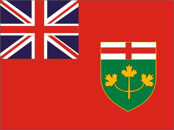 Flag Ontario - Provinces and territories Canada