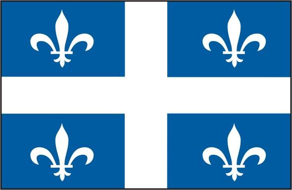 Flag Quebec - Provinces and territories Canada