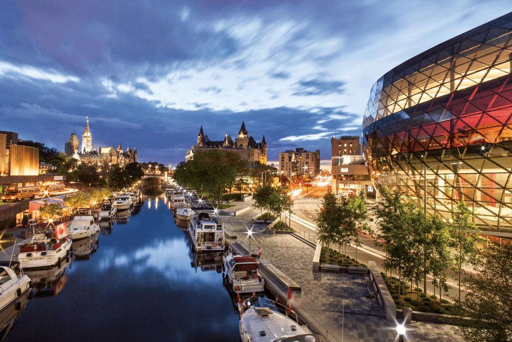 Ottawa Convention Centre, Ottawa, Rideau Canal